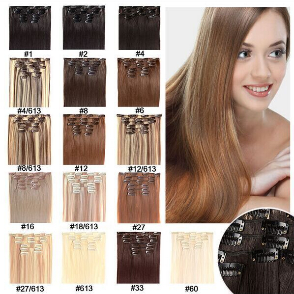 Fast shipping long straight natural hair extensions 20inch50cm fast shipping long straight natural hair extensions 20inch50cm 7pcs real persons hair black brown blonde color available on aliexpress alibaba pmusecretfo Gallery