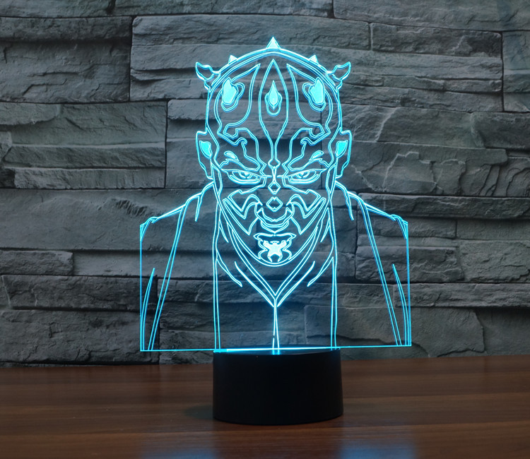 7 Colors Jedi Darth Star Wars Millennium Falcon Action Figures 3D Table Lamp BB 8 Master Yoda Vader Mask Led Toys Stormtrooper star wars bb8 droid 3d bulbing light toys new 7 color changing visual illusion led decor lamp darth vader millennium falcon toy