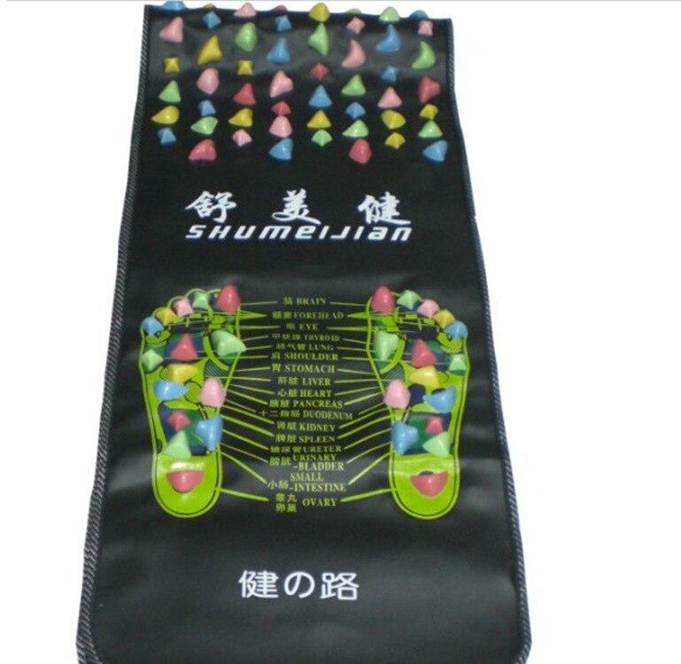 Free Shipping 1 pc Health monitors Reflexology Walk Stone Foot Massage Leg Massager Mat Health Feet Care 170x35cm