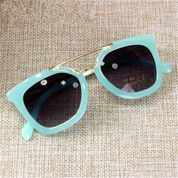 UCOOL Double-large Frame Children's Sunglasses Metal Sunglasses Boy and Girl baby glasses wholesale oculos feminino redondo