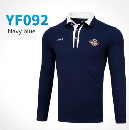 PGM autumn winter golf Sportswear apparel men long-sleeved Button collar Golf T-shirt men breathable comfortable Golf polo Shirt