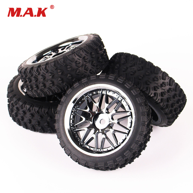 4Pcs 12mm Hex 10087-21104 Rubber On road Tires Wheel Rim For 1:10 Rally HPI HSP Racing RC Off Road Car RC Accessories
