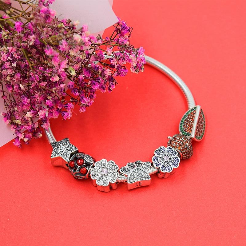 Chaud Argent Européen CZ Charme Perles Fit Pandora Style Bracelet - Bijoux fantaisie - Photo 2