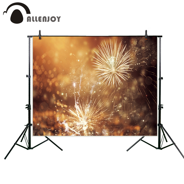 allenjoy photographic background fireworks bokeh classic family party new year backdrop photocall professional customize