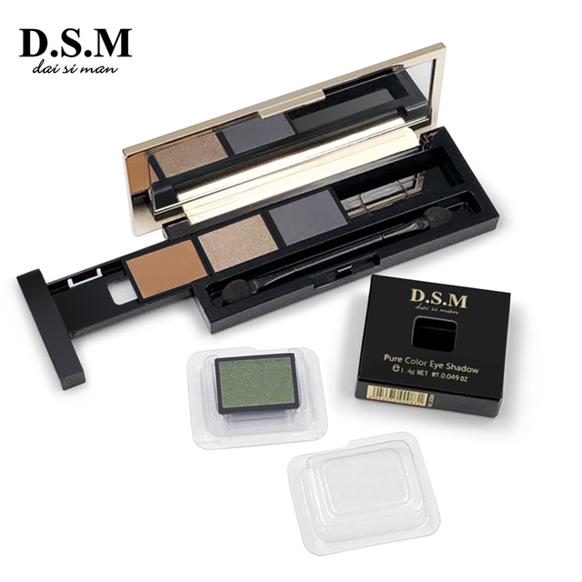 D.S.M Brand New DIY Eye Shadow Replaceable Combined 4 Perfect Shades Palettes Matte Glitter Colorful Makeup Eyeshadow Palettes 1