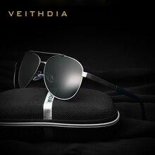 2017 Diseñador de la Marca Pilot VEITHDIA Moda Hombres gafas de Sol de Aleación Gafas de Sol Polarizadas Masculinas gafas gafas de sol masculino 3585