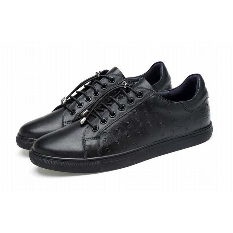 ⓪Vintage Hot Mode Lembut Pria Kulit Sepatu Kasual Lace Up pria ... 041347af85