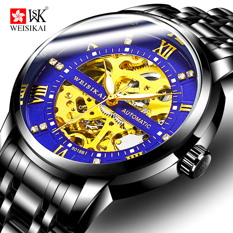 Weisikai Brand Men Mechanical Watch Automatic Skeleton Watches Luxury Gold Man Dress Clock Male Reloj Hombre Relogio MasculinoWeisikai Brand Men Mechanical Watch Automatic Skeleton Watches Luxury Gold Man Dress Clock Male Reloj Hombre Relogio Masculino