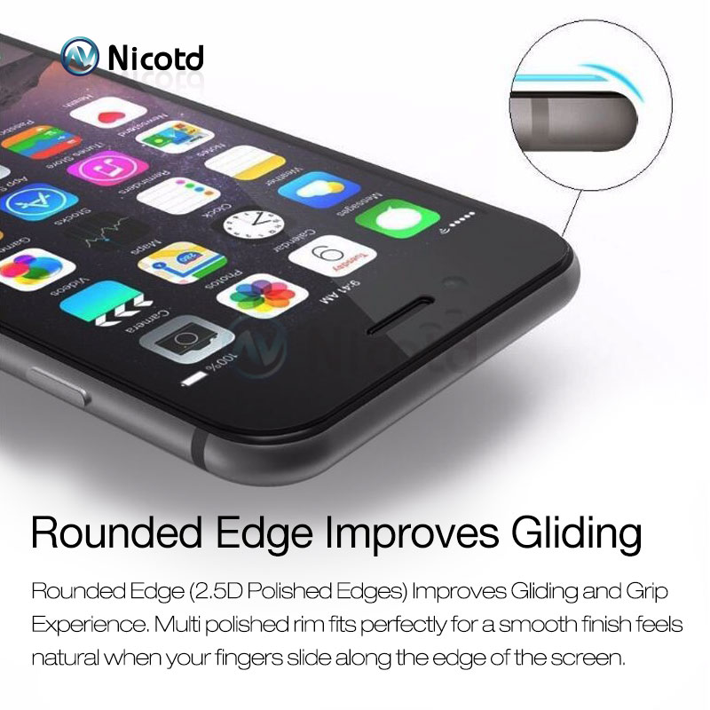 Image 3 - Full Cover Tempered Glass For iPhone 7 6 6S Plus 2.5D Screen Protector Film for iphone X 8 7 Plus glass protection Black White-in Phone Screen Protectors from Cellphones & Telecommunications