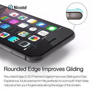 Image 3 - Закаленное стекло с полным покрытием для iPhone 7, 6, 6S Plus, 2.5D, защитная пленка для экрана iphone X, 8, 7 Plus, защитное стекло, черный, белый