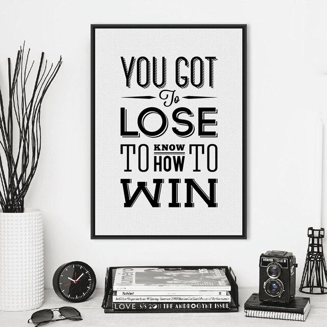 Minimalista negro blanco motivación tipografía Win cotizaciones A4 ...