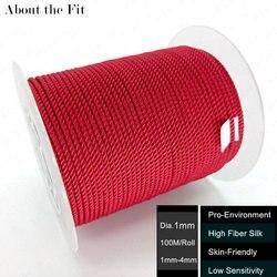 Über die Fit 1mm Milan Seide Schnur 100 M/Roll Perlen String Handwerk Faden Gewebt Spitze Schmuck Armband halskette, Der Gurt Seile