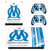Olympique de Marseille droit au but Skin Sticker For Xbox One X