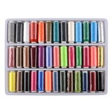Packung mit 39 Farben 150 Mt 100% Polyester Garn Spulen Saiten Nähgarn Spolyester Stark Und Haltbar Nähgarn
