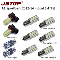 Jstop 10 шт./компл. A1 Sportback 2012 14 1.4 TFSI T10 свет H11 Туман лампа сзади туман ширина огни без ошибка 1156 P21W 12 В светодиодных ламп тормозов