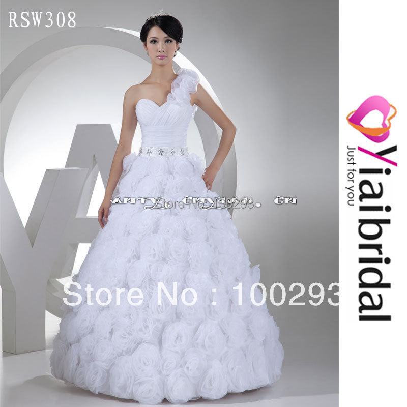 RSW308 Fabric Flowers For Wedding Dresses Real Sample In