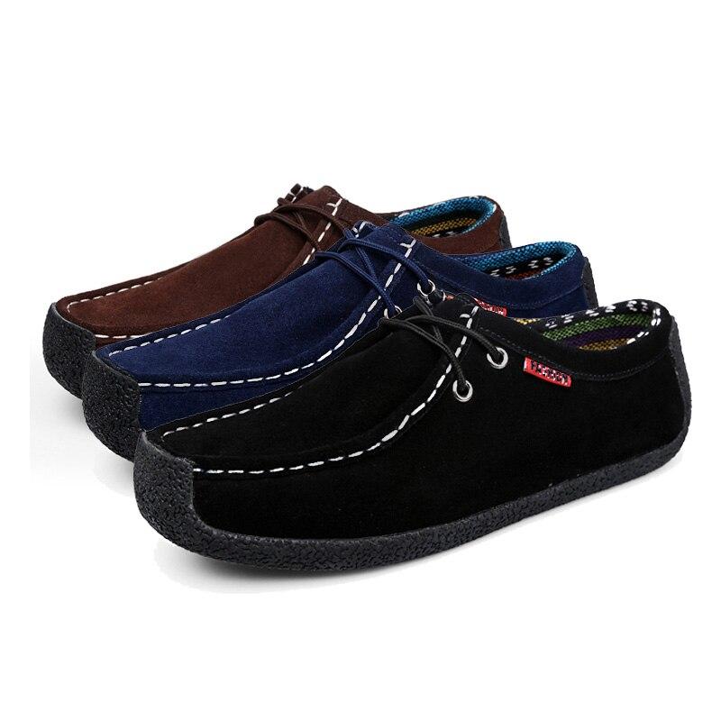 Sport Chaussures Homme Daim marron up Cuir Taille De Coudre Automne Ngouxm Marine Noir En Printemps Dentelle La Hommes bleu Mocassins Plat Plus Respirant Main À xqzznOPp6w