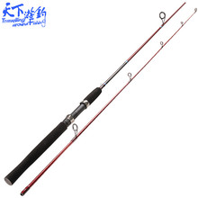 1.98m 2 Sections Spinning Fishing Rod M and ML Power Carbon Fiber Lure Rod 3.5-18g Lure Weight 4-10LB Line Weight Vara De Pescar