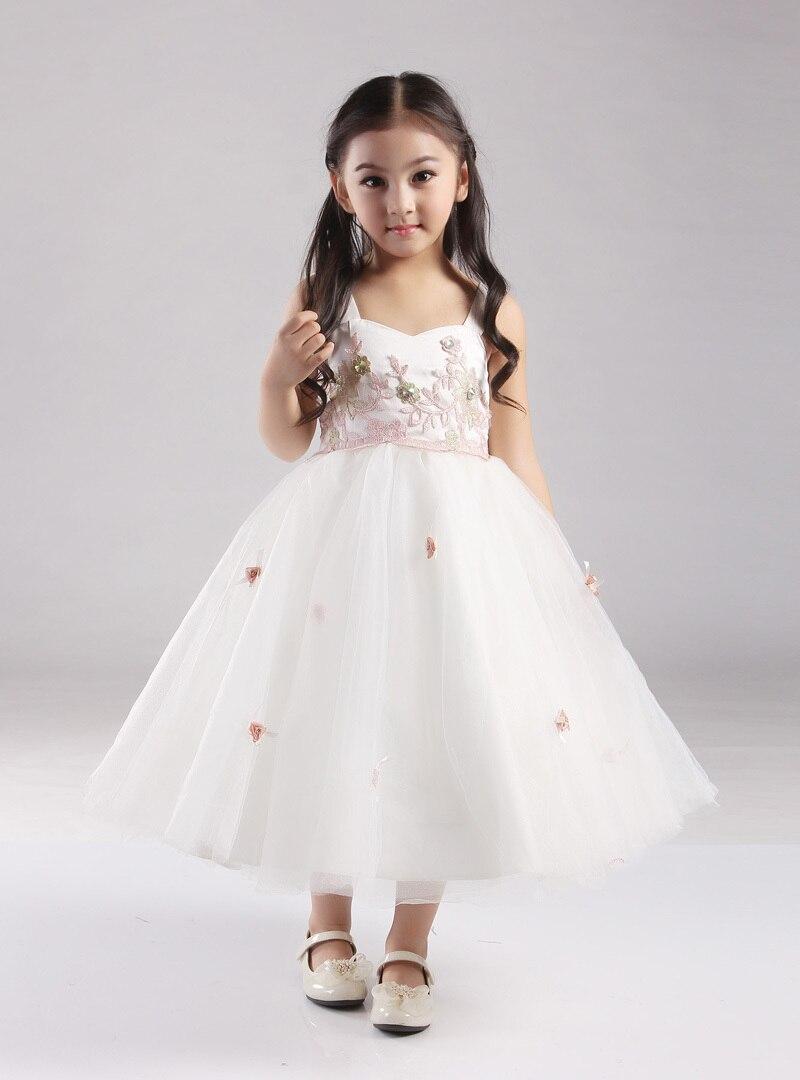 6428ef428 Elegant child dress 2015 flower girl dresses for wedding party girl  princess dress ivory pink dress plus size in stock sale 5071