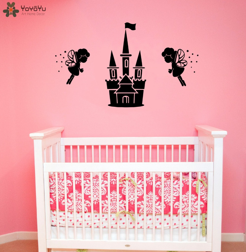 Magic castle wall decal for kids rooms vinyl removable - Childrens bedroom wall stickers removable ...