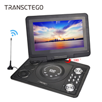 TRANSCTEGO DVD Player Portable Car TV 13 9 Inch Big Players LCD Screen For Game FM