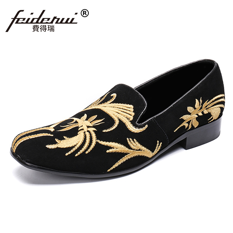 New Cow Suede Round Toe Slip on Man Handmade Moccasin Loafers Genuine Leather Embroidery Mens Comfortable Casual Shoes SL447New Cow Suede Round Toe Slip on Man Handmade Moccasin Loafers Genuine Leather Embroidery Mens Comfortable Casual Shoes SL447