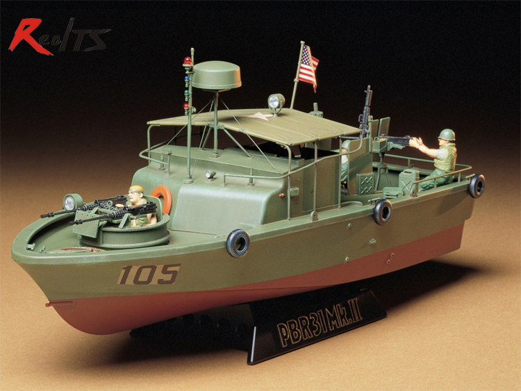 RealTS TAMIYA MODEL 1/35 SCALE military models #35150 U.S. Navy PBR31 Mk.II Pibber plastic model kit цена
