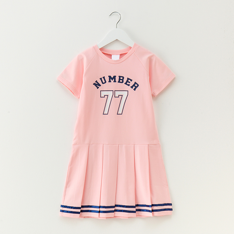 girl dress 2018 summer kids clothes cottn A line short sleeve girls dress children clothing