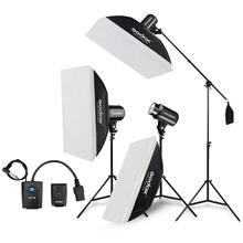 Godox E300 Студийная Вспышка Комплект 900 Вт-фотографическое освещение-срабатывает, свет стоит, триггеры, софтбокс, штангу