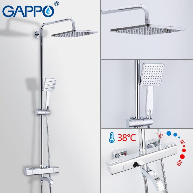 GAPPO Baignoire Robinets thermostatique mélangeur de douche salle de bains douche set robinet de la Baignoire mitigeur cascade robinet de douche