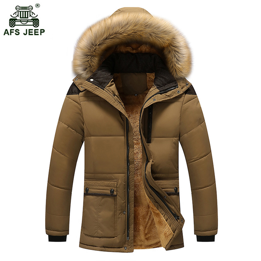 2017 High Quality Men Thickening Brand Winter Coat Military Cotton-Padded Jacket Men New Fashion Warm With Fur Parka 100wy new pattern winter jacket men cotton padded loose coat long down thickening cotton oversize parka casual warm outwear