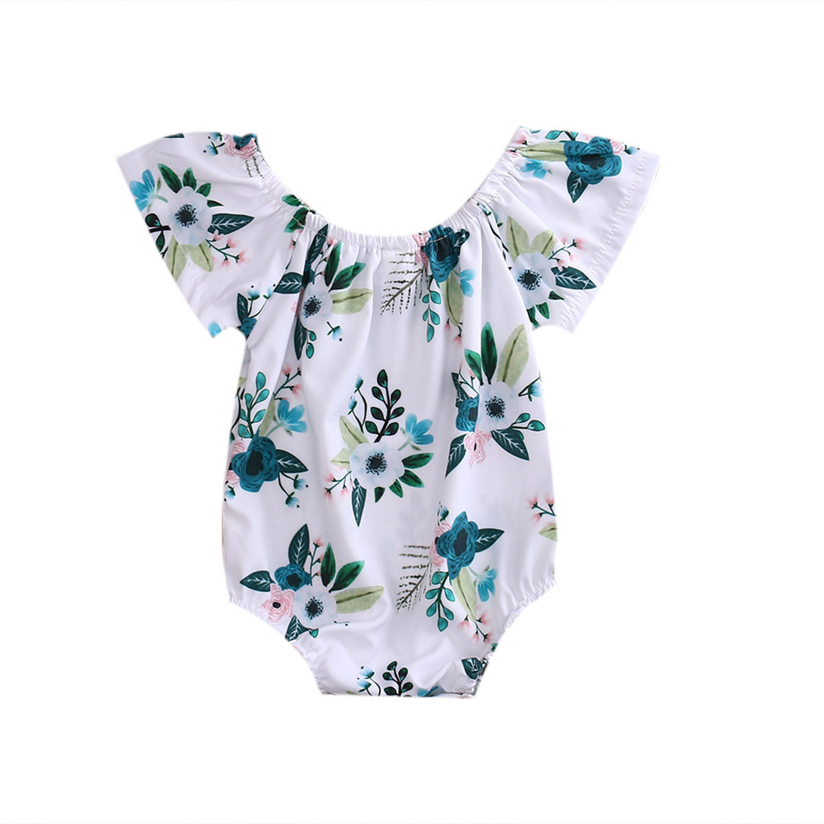 Infant Newborn Toddler Baby Girl Floral Romper Jumpsuit Outfit Playsuit Sunsuit Sleeveless Cotton Clothes