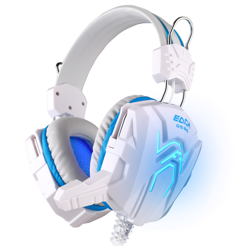 GS310 HIFI Stereo Gaming Headphone for Computer Foldable Design Gamer Headset Headband with Microphone Glaring LED Light