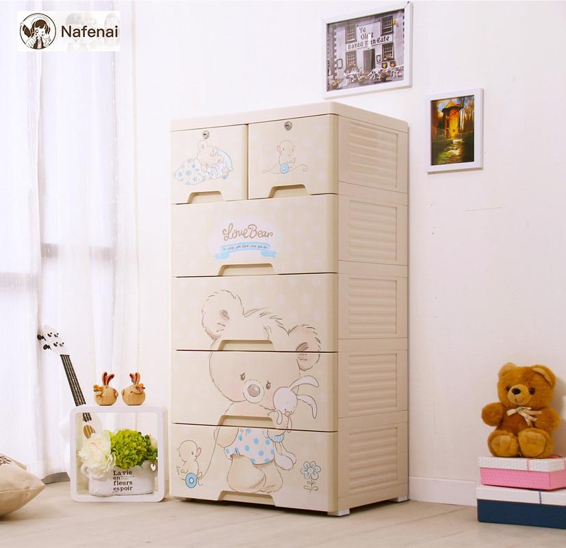 Enfants armoire en plastique enfants garde-robe rangement organisateur boîte organisateur tiroir 5 étages armoire pour vêtements et enfants jouets