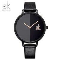 Shengke Women Watches Top Brand Luxury 2018 Wristwatch Female Clock Leather Lady Quartz Watch Montre Femme