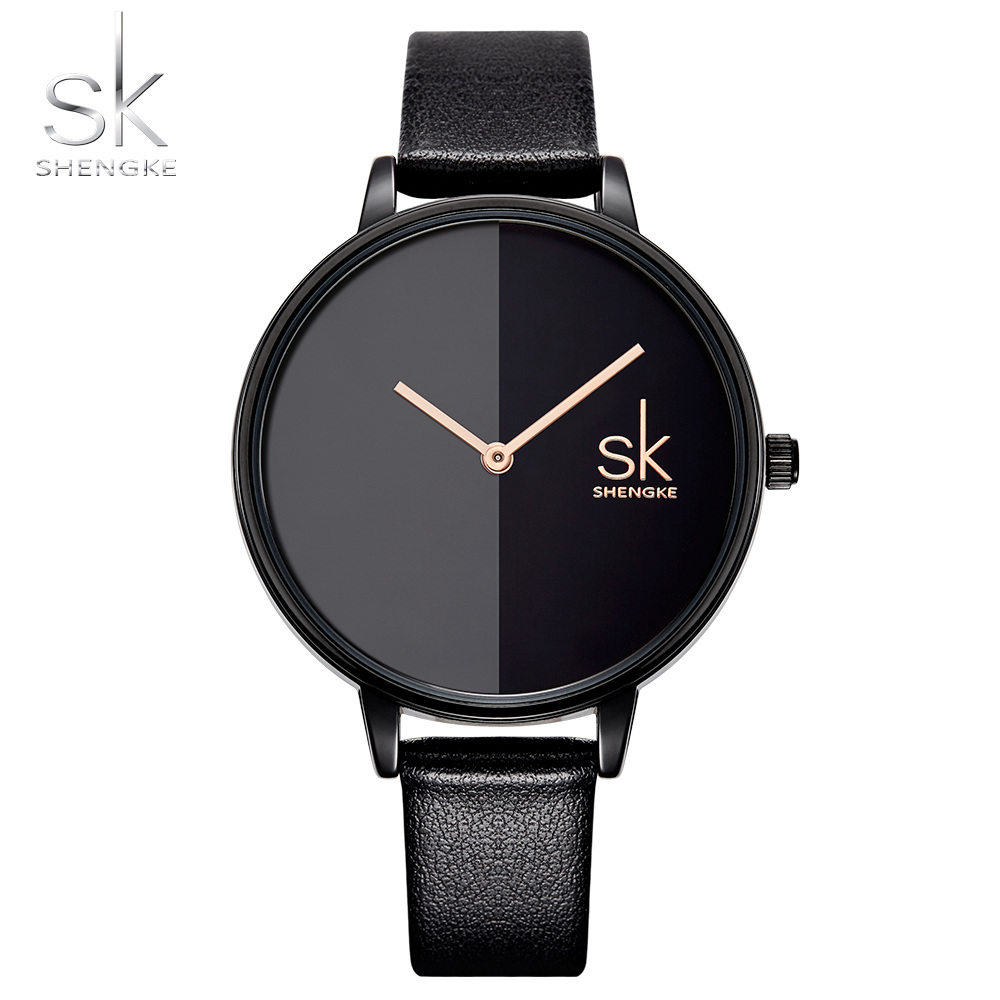 Shengke Women Watches Top Brand Luxury 2018 Wristwatch Female Clock Leather Lady Quartz-watch Montre Femme Relogio Feminino