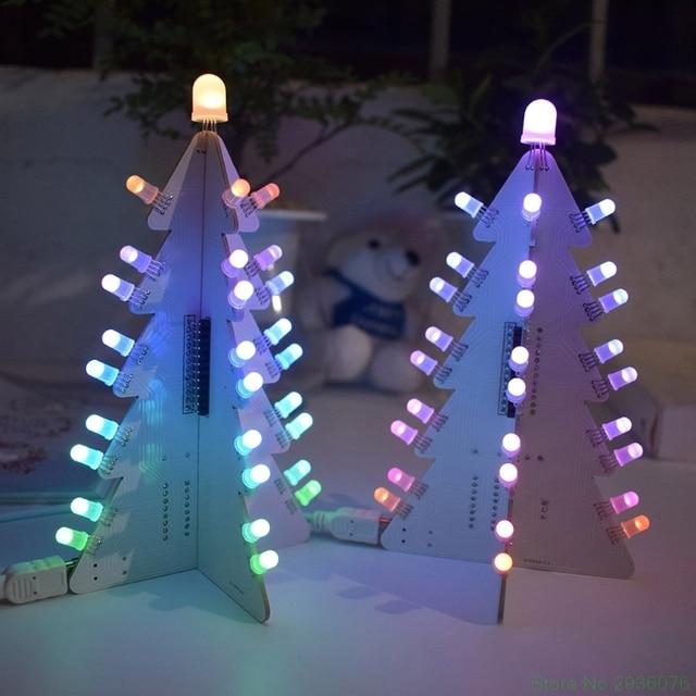 New DIY Light Control Full Color LED Big Size Christmas Tree Tower Electronic Kit Drop Ship 11