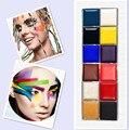 MARCA 12 Cores de Maquiagem Fazer upFlash Tatuagem Corpo Pintura Facial Pintura A Óleo Arte Festa Halloween Fancy Dress Beleza Ferramentas de Maquiagem