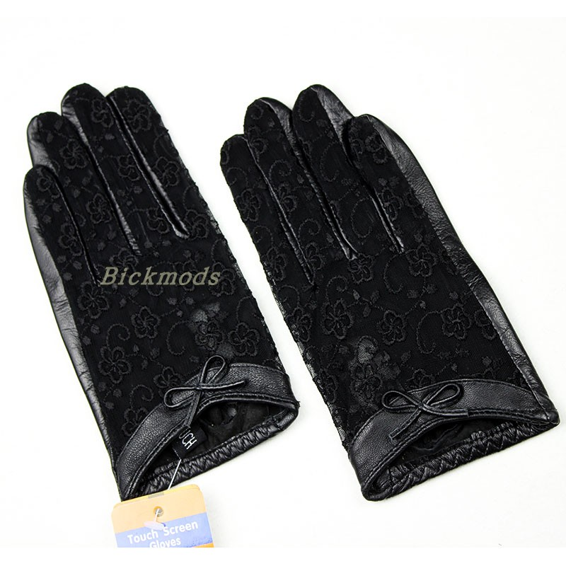 Жіночі рукавички з овчини з - Аксесуари для одягу - фото 6