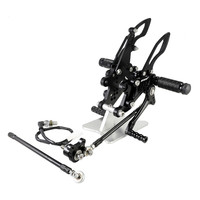 CNC Aluminum Motorcycle Accessories Adjustable Rearsets Rear Sets Footrest For HONDA CBR1000RR 2004 2005 2006 2007