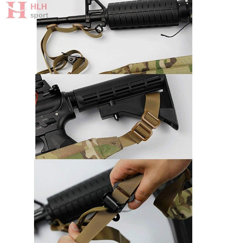 Adjustable Tactical Gun Sling Belt Military Tactical Rifle Sling Hunting Airsoft Adjustable Buckle Gun Strap Belt