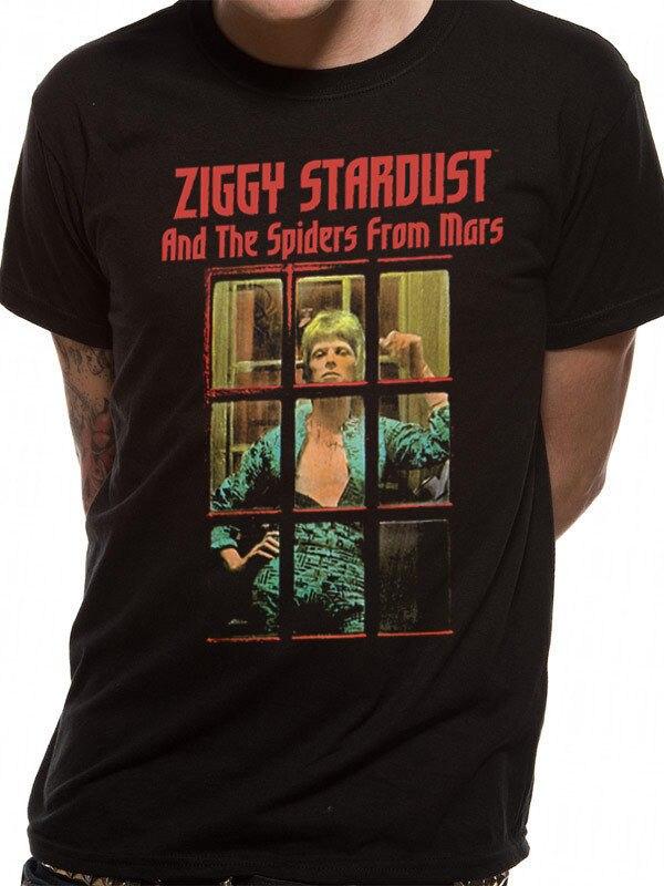 Print T Shirts Short David Bowie Mens T-Shirt Top Licensed Merchandise Colour Booth XXL Printed T Shirts Mens Streetwear