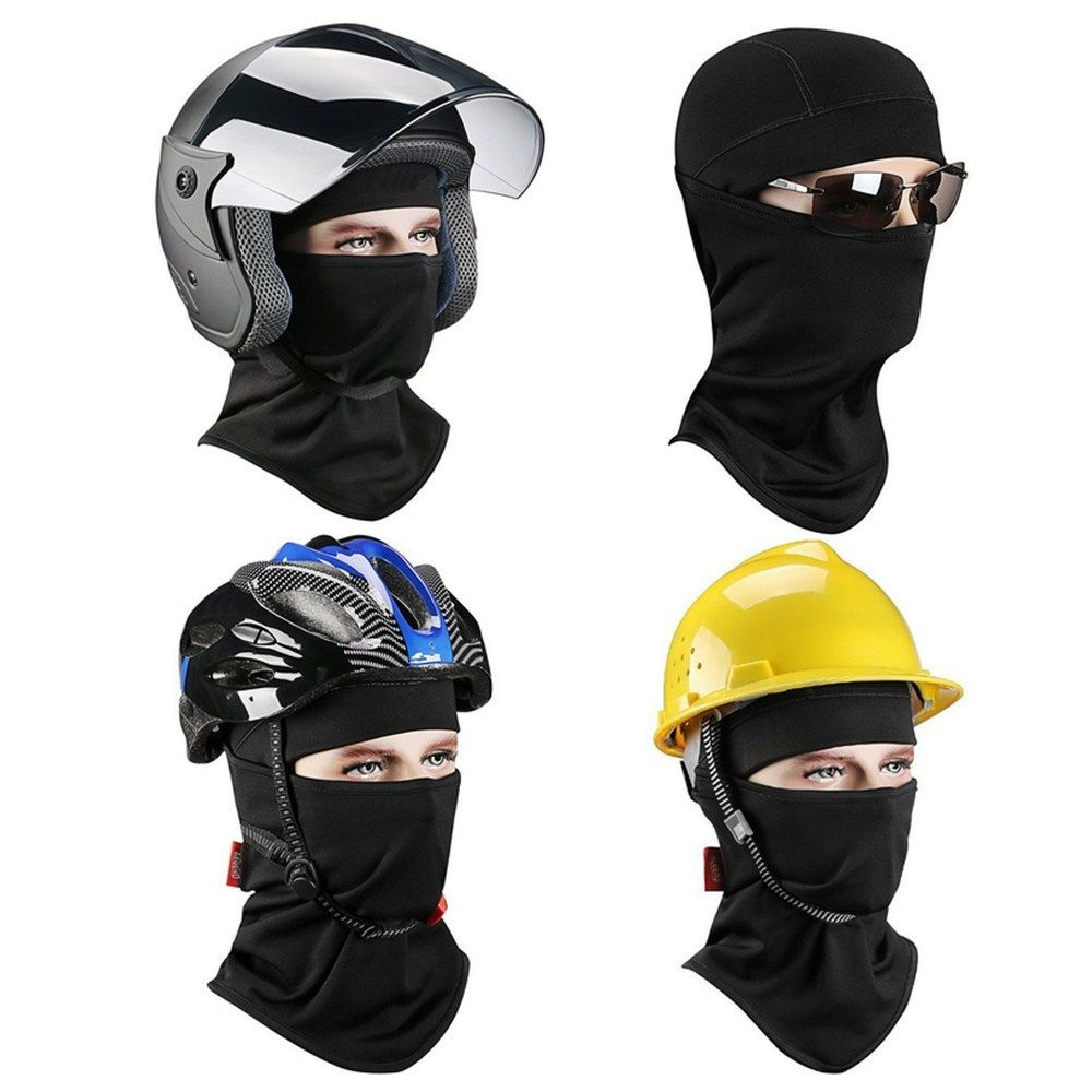 Triclick Unisex Motorcycle Face Masks Outdoor Street Windproof Dustproof Riding Neck Face Mask Full Face Helmet Fabric Helmets in Helmets from Automobiles Motorcycles