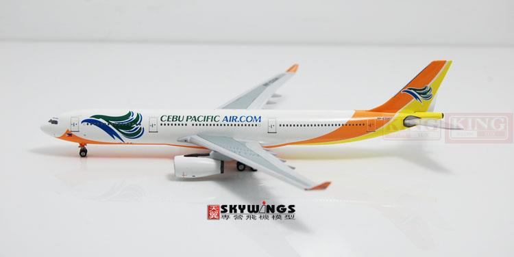 Aeroclassic Cebu Pacific Airlines RP-C3341 1:400 A330-300 commercial jetliners plane model hobby new phoenix 11207 b777 300er pk gii 1 400 skyteam aviation indonesia commercial jetliners plane model hobby