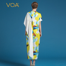 VOA 2017 Summer New Fashion Silk Women Dress ALJ00201