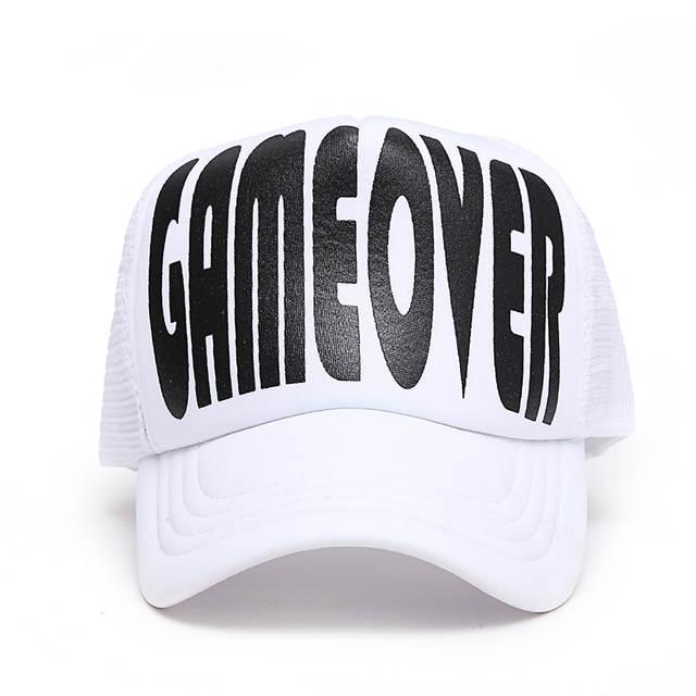 e11a41720 VORON 2017 nova GAMEOVER BEBER EQUIPE boné de beisebol das mulheres dos  homens partty cap chapéus