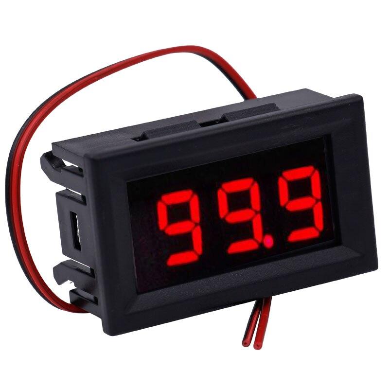 5v ~ 120V DC Voltage Meter 2 Wires Digital Voltmeter Electrical Instruments Volt Tester For Car  10%OFF