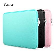 Yicana 11, 12, 13, 14, 15,6 дюймов чехол для ноутбука MacBook Air ультрабук, ноутбук, планшетный компьютер, портативная мягкая сумка на молнии
