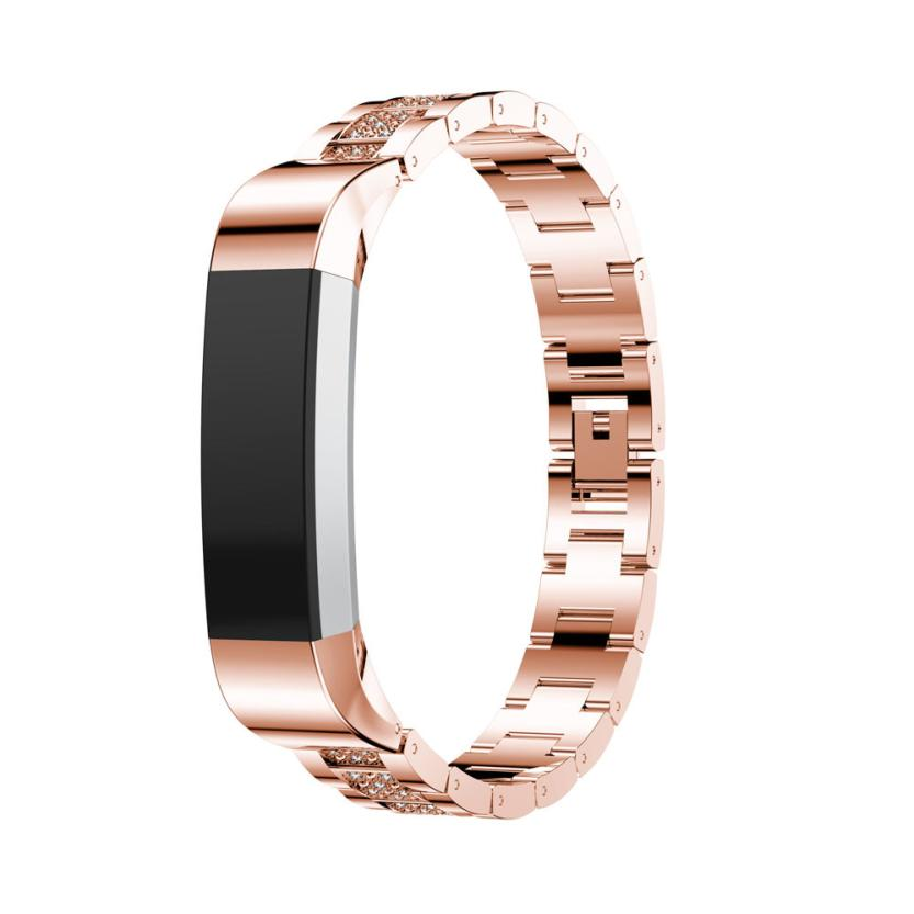 HL 2017 Luxury Alloy Crystal Watch Band Wrist strap For Fitbit Alta HR/for Fitbit Alta drop shipping sep18