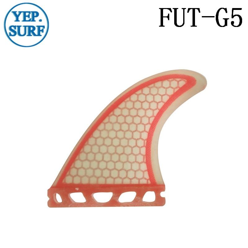 Surfboard Fin Future G5 Fin Quilhas Açıq Qırmızı Fibererglas - Su idmanı - Fotoqrafiya 4